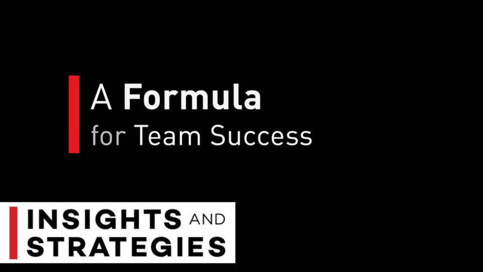 A Formula for Team Success