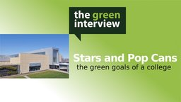 Stars and Pop Cans: The Green Goals of a College